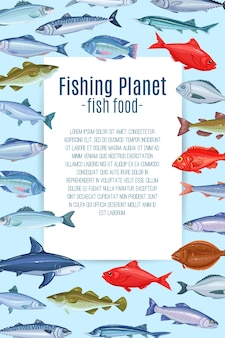 Design da página com peixes.