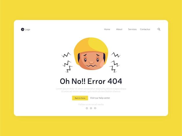 Design da página de destino do erro 404