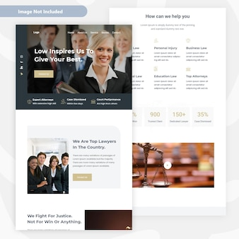 Design da página de destino do escritório de advocacia