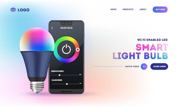 Design da página de destino do site