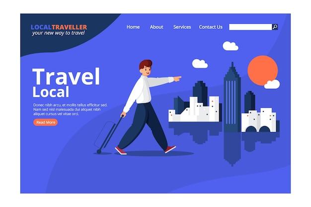 Design da página de destino do turismo local