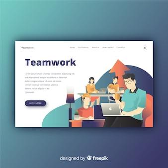 Design da página de destino. mocksite