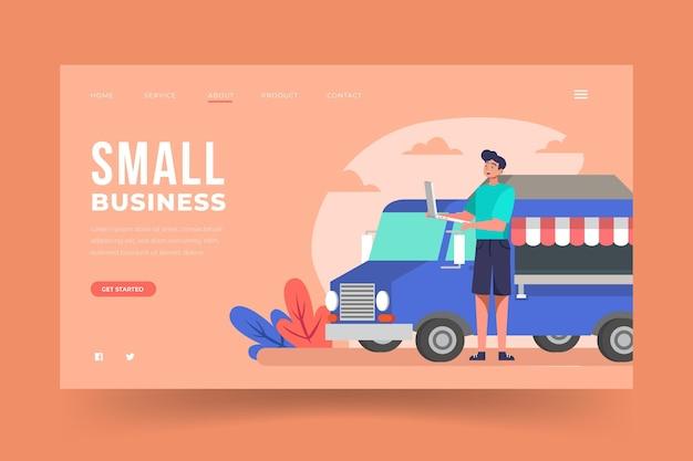 Design da página de destino para pequenas empresas