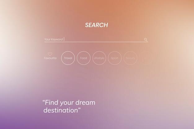 Design da página de pesquisa