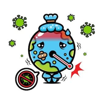 Design da terra contraiu um vírus