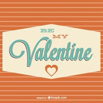 Design da tipografia retro para cartão dia dos namorados