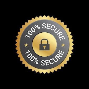 Design de 100 emblemas seguros