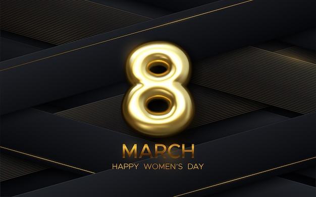 Design de 8 de março para o dia da mulher