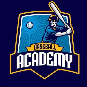 Design de academia de crachá de beisebol