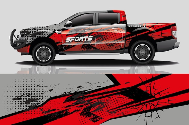 Design de adesivo de carro de caminhão