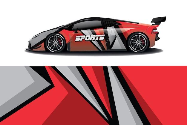Design de adesivo de carro esporte