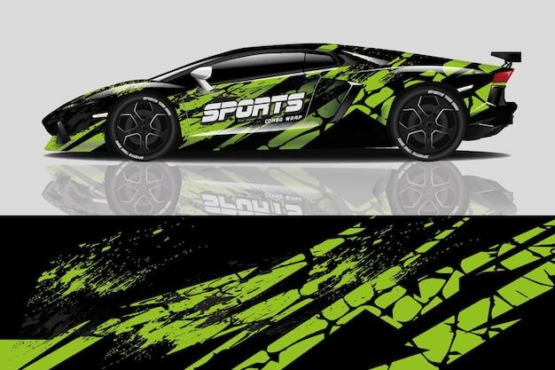 Design de adesivo de carro esportivo