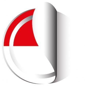 Design de adesivo para a indonésia