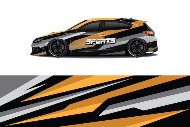 Design de adesivo para carro sedan