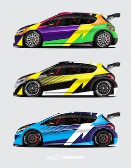 Design de adesivos de carros para rally