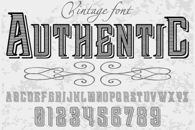 Design de alfabeto de estilo antigo autêntico