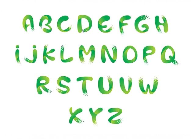 Design de alfabeto de pixel digital