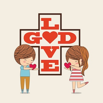 Design de amor católico