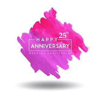 Design de aniversário de casamento colorido splatter aquarela