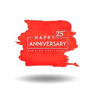 Design de aniversário de casamento laranja splatter aquarela