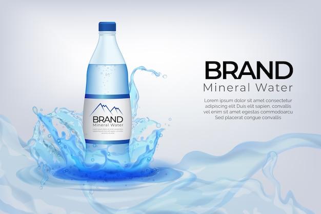 Design de anúncio de bebida