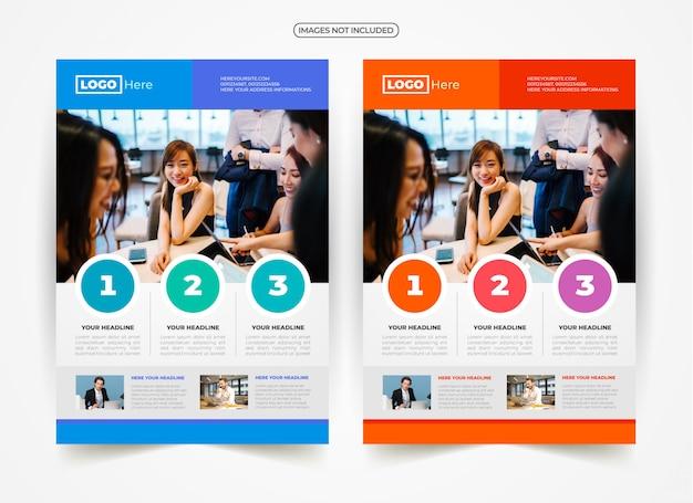 Design de anúncio de folheto de negócios