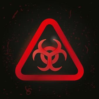 Design de anúncio de perigo.