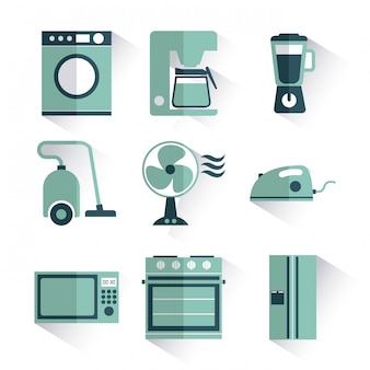 Design de aparelhos sobre ilustração vetorial de fundo branco