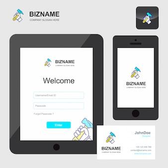 Design de aplicativo de empresa de trabalho