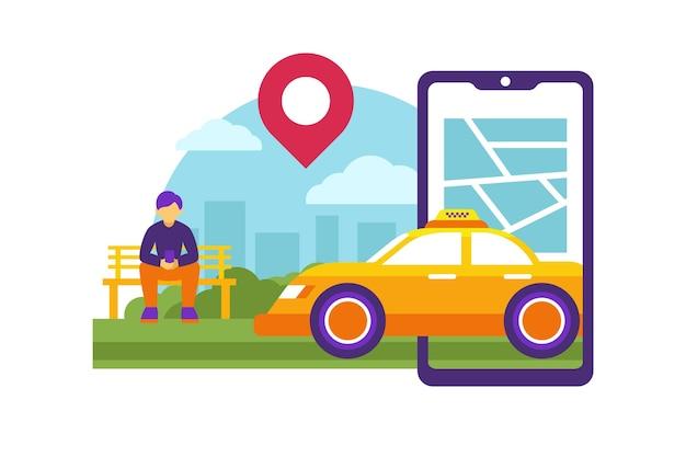 Design de aplicativo de serviço de táxi