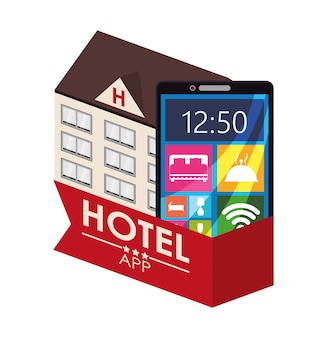 Design de apps digitais para smartphone e hotel