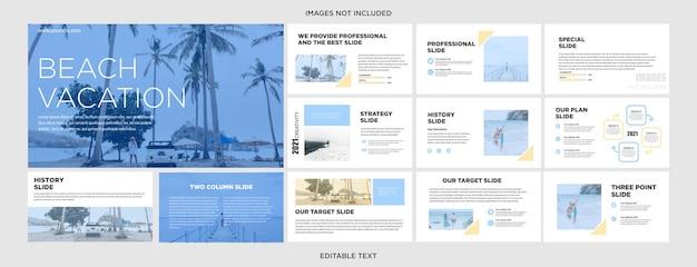 Design de apresentação de estilo de viagem