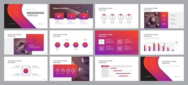 Design de apresentação de negócios e layout de brochura