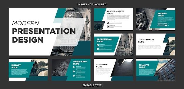 Design de apresentação de negócios multiuso