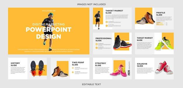 Design de apresentação de tênis de corrida
