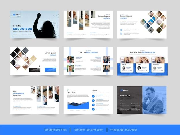 Design de apresentação do powerpoint para educação
