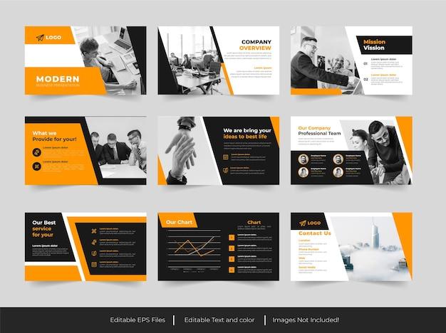 Design de apresentação em powerpoint para negócios