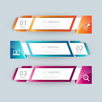 Design de apresentação infográfica de banner opcional