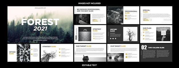Design de apresentação multifuncional da beauty nature