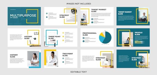 Design de apresentação multifuncional de estilo de linha