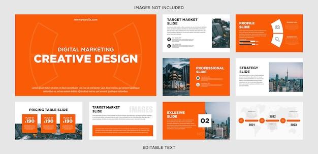 Design de apresentação multiuso criativo vermelho