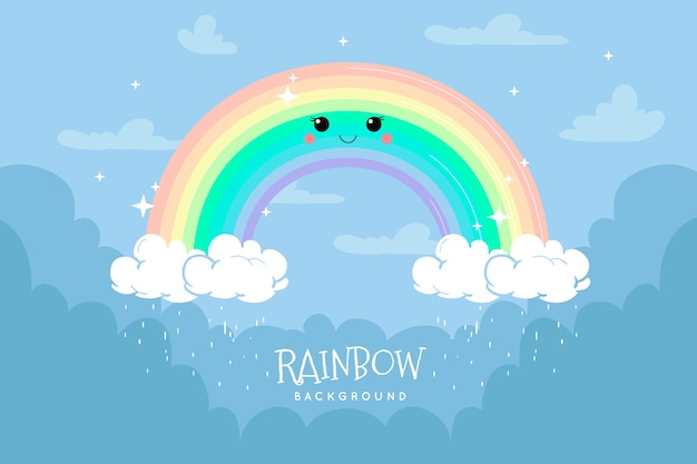 Design de arco-íris desenhados à mão