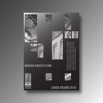 Design de arquitetura moderna de fundo para banner, impressão de produtos, panfleto, cartaz