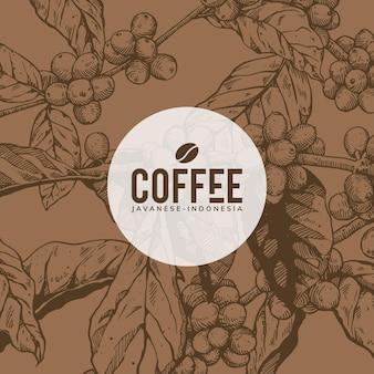 Design de arte de fundo de café (marrom)