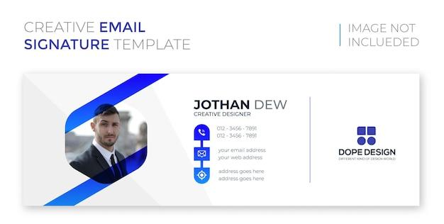 Design de assinatura de e-mail profissional corporativo empresarial premium vector