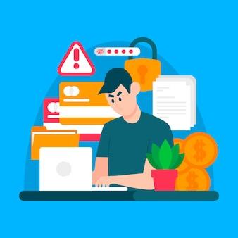 Design de atividade do hacker