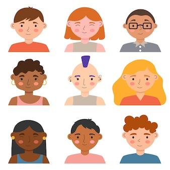 Design de avatares para pessoas diferentes