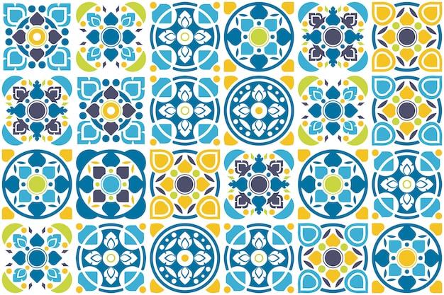Design de azulejos. padrão sem emenda de chão