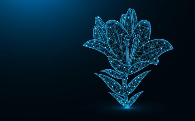 Design de baixo poli de flor de lírio