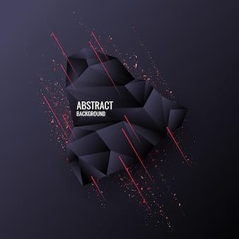 Design de baixo poli. objeto poligonal abstrato em segundo plano. ilustração vetorial